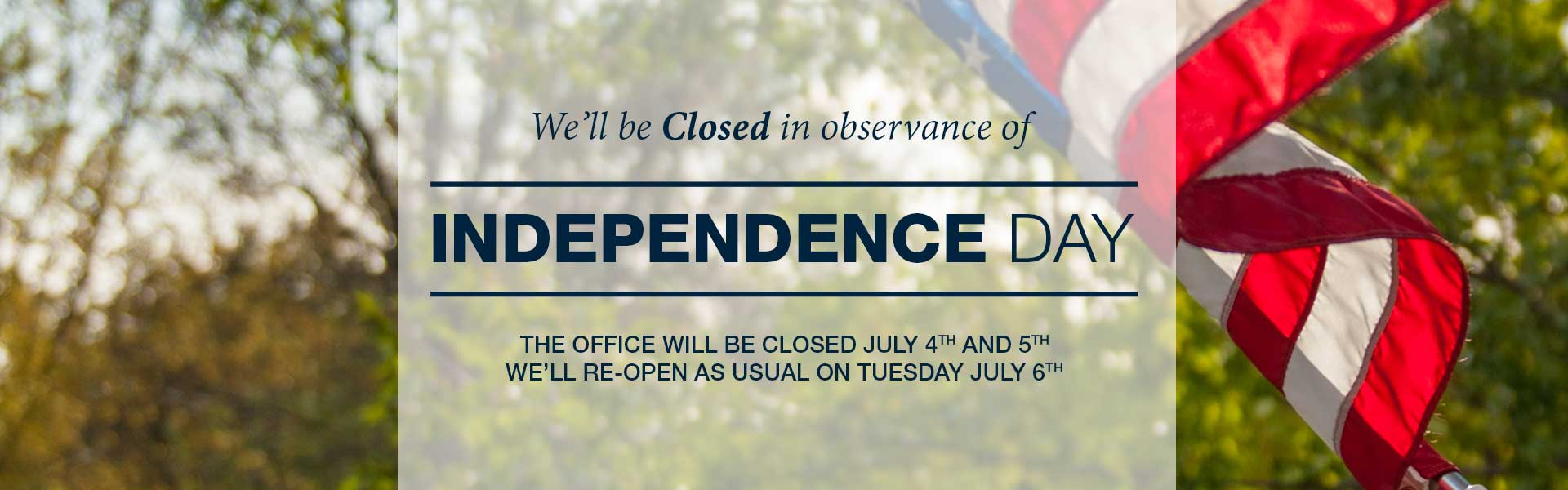 Office closed | July 4-5, 2018 | - East Alabama Ear, Nose & Throat P.C.